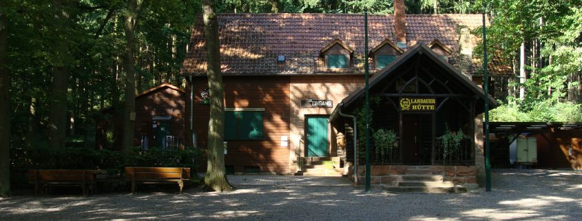 Landauer Hütte im Pfälzer Wald