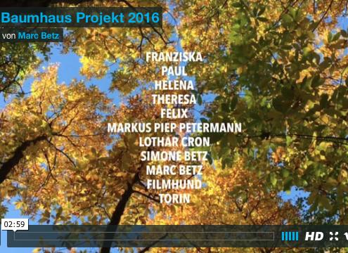 Baumhaus Projekt 2016